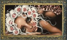 Angelina Wrona Dryin' The Dishes print poster fantasy surreal girl rollers Galerie D'art, Pop Surrealism, Frame Shop, Limited Edition Prints, Dark Art, Artsy Fartsy, Art Girl, Fantasy Art, Dark Fantasy