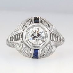 Rare Ornate Art Deco Old European Cut Diamond by YourJewelryFinder, $2475.00