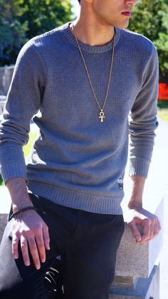off Unisex GOLD plated Ankh necklace Ankh Necklace, 18k Gold, Jewerly, Unisex, Pullover, Female, Model, How To Wear, Shopping