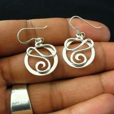 Handmade Sterling Silver Twisted Wire Earrings by forkwhisperer #HandmadeJewelry #SterlingSilverWire