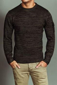 dark brown sweater. JACK THREADS. light khaki jeans. awesome. comfortable. style. | Raddest Men's Fashion Looks On The Internet: http://www.raddestlooks.org