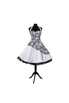 Petticoatkleider - Petticoatkleid Abendkleid 50er Jahre schräg blumen - ein Designerstück von myrockabillymode bei DaWanda