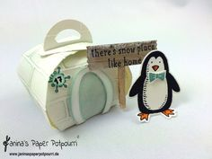 jpp - Curvy Keepsake Igloo / Zierschachtel Iglu / Verpackung / Geschenk Schachtel / Winter / Weihnachten / Pinguin / Stampin' Up! Berlin / Snow Place / Snow Friends / Frostige Freunde www.janinaspaperpotpourri.de