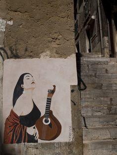 Fado retratado em arte de rua. Fado é Portugal!