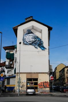 Awe-Inspiring Graffiti Street Art Paintings From Around The World street_art_wall_by-Mauro-Fassino 3d Street Art, Murals Street Art, Street Art Utopia, Amazing Street Art, Street Art Graffiti, Street Artists, Amazing Art, Wall Street, Awesome