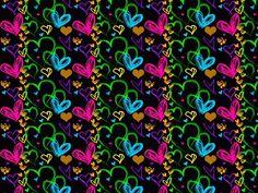 Multicolor rainbow Hearts phone wallpaper #cute
