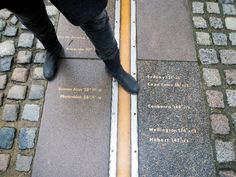 Peggy steps over the line. The International Date Line at Greenwich International Date Line, Family Christmas, Places To Go, Dating, Memories, London, Memoirs, Quotes, Souvenirs