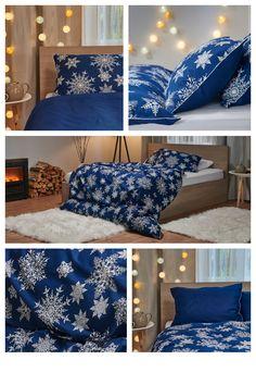 Zabaľte sa do snehových vločiek s obliečkami Warm Hug. #homedecor #bedlinen #dormeo #cozy