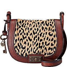 Fossil Vintage Re-Issue Cheetah Flap Crossbody - Cheetah - via eBags.com!