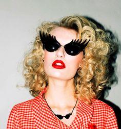 "fun ""eyelash"" cateye sunglasses by Tatty Devine"