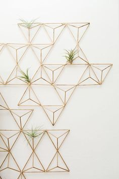 Interesting Idea Geometric Wall Art Before After LIVING ROOM REVEAL Metal Brass Turned Planter For Air Plants A Unique Use Of Diy geometric wall art uk.