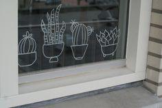 Planten I #raamtekening door Dewi van http://dingenvandee.nl