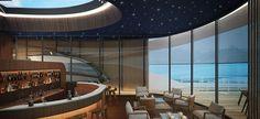 Swiss Ocean, Seahawk, Zurich, 2014 | MACH ARCHITEKTUR GMBH: Yacht Bar Interior Design, Helicopter Bar Zurich, Natural Wonders, Marina Bay Sands, Ocean, Explore, Hospitality, Building, Bar, Design