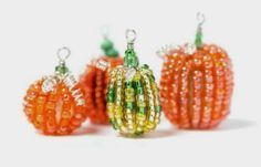 How to Make Beaded Pumpkins - The Beading Gem's Journal