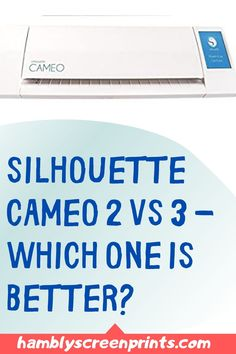 Which one is better? Silhouette Cameo 2 or 3?  Both the machines can give you excellent results but one of them is better than the other. Find out the answer on this pin! #silhouette #silhouettecameo #cameo2 #cameo3 #cuttingmachine Silhouette Cameo 2, Silhouette Design, Cricut, Vinyl Shirts, Vinyl Cutting, Personalized T Shirts, Stamp Collecting, Vinyl Projects, Vinyl Designs