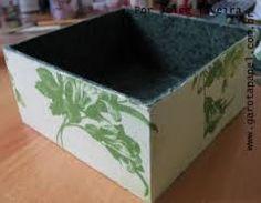 Resultado de imagem para forrar caixa sapato com tecido