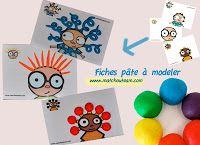 fiche pâte à modeler : L'objectif est de reproduire la petite image, en modelant des formes avec la pâte à modeler.