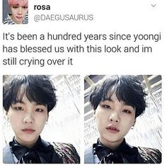 Yoongi should honestly keep this hair forever