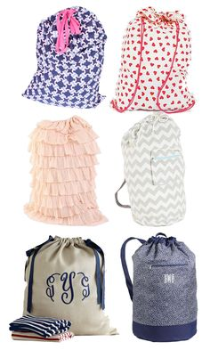 Preppy Laundry Bags
