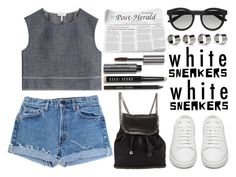 """""""White Sneakers"""" by poppynight ❤ liked on Polyvore featuring rag & bone, Levi's, Yves Saint Laurent, Bobbi Brown Cosmetics, Gucci, STELLA McCARTNEY and Maison Margiela"""