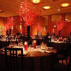 red wedding arrangements - Google Search