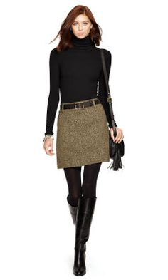 Wool-Blend-Tweed Miniskirt - Polo Ralph Lauren Best Sellers - RalphLauren.com