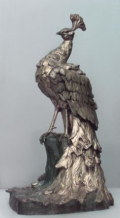French Victorian life-sized peacock sculpture. I found something similar to this today at HomeGoods