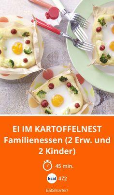 Ei im Kartoffelnest - Familienessen (2 Erw. und 2 Kinder) - smarter - Kalorien: 472 Kcal - Zeit: 45 Min. | eatsmarter.de
