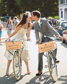 "See the ""Cycle Style"" in our All-Star Wedding Ideas for the Ultimate Sports Fan gallery"