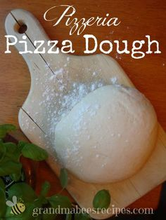 Pizzeria Pizza Dough - BEST Homemade Pizza Crust Recipe on Pinterest. Believe me, I've tried them all!