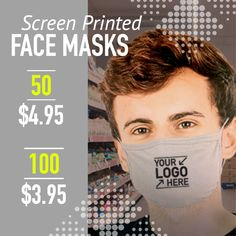 Featuring our best value 100% cotton face mask! Create custom face masks with your logo for less. Free shipping and design help.   #facemasks #screenprinting #uniforms