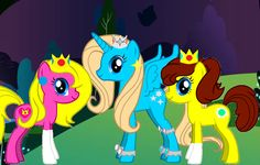 These three ponys are princesses who are sisters. They are very well known for there kindness to other ponys.