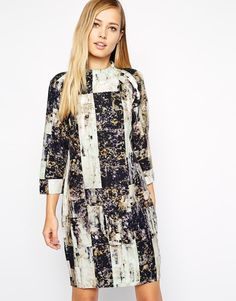 Whistles Heavy Tunic Dress in Rock Print