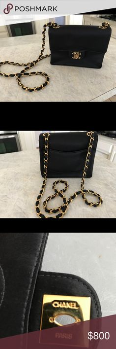 Chanel Timeless Purse Size about 8 x 3  heavy strap AUTHENTIC CHANEL Bags Mini Bags
