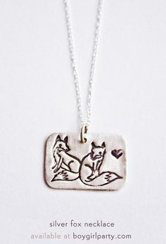 Fox Necklace - Silve