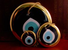 "One of my favorite souviners from Greece. The ""evil eye"" protects you."