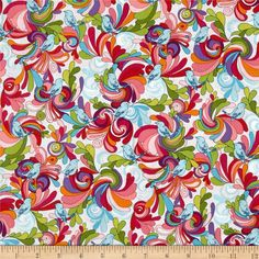 Robert Kaufman In the Bloom Flowers & Birds Garden from @fabricdotcom  Designed by Valori Wells for Robert Kaufman, this cotton print fabric is perfect for quilting, apparel and home decor accents. Colors include grey, red, white, shades of purple, shades of orange, shades of pink, shades of blue, and shades of green.
