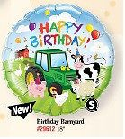 "18"" HAPPY BIRTHDAY FARM ANIMALS FOIL HELIUM BALLOON"