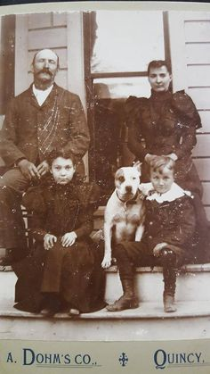 Pit bulls were very common in 1800's in families...they were in the family to watch over the children....