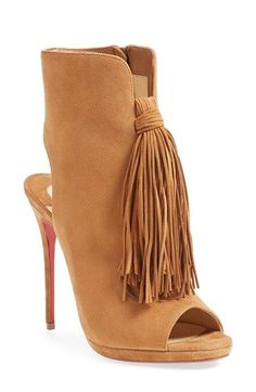 Christian Louboutin 'Ottoka' Fringe Sandal available at #Nordstrom