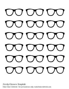 Nerd Glasses Template | even made a nerdy glasses template to share with you