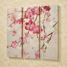 Majestic Blooms Floral Triptych Canvas Art Set