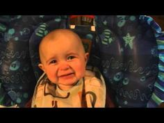 Baby tears up at mom's voice - dare you not to cry!
