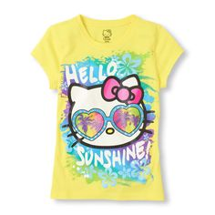 The sun will shine when she wears her new Hello Kitty tee!