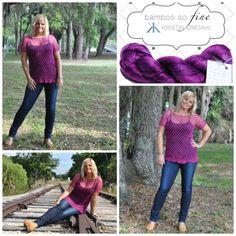 Mesh Berry Crochet Pullover Pattern