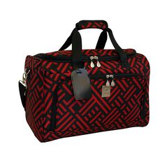 Jenni Chan Black and Red 18 Inch Signature City Carry On Duffel