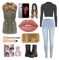 """""""Movie Night"""" by ingejosevalentine on Polyvore featuring H&M, Topshop, Steve Madden, Forever New, Lime Crime and Yves Saint Laurent"""