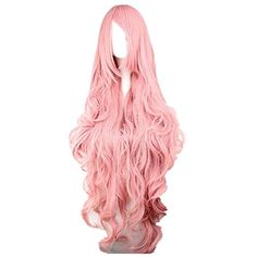 Prettymart Cosplay Wig 80cm Lang Gelockt Vocaloid Luka Pink Rosa Hair *** Click image for more details.
