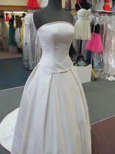 8701 MORI LEE PEARL/CHAMPAGNE SATIN Bridal Gown Dress Size 4 $850-ORIG PRICE ***