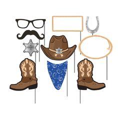 Blue Banda Cowboy Photo Booth Props/Case of 60